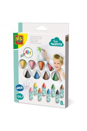 """Набор для рисования серии """"Tiny Talents"""" - ВОДНЫЕ ЗАБАВЫ (8 восковых карандашей для ванной)."""