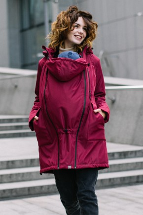 Демисезонная слингокуртка для беременных 4 в 1 Love&Carry бордо