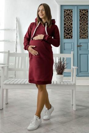 Платье для беременных и кормящих Lullababe Antalya бордо