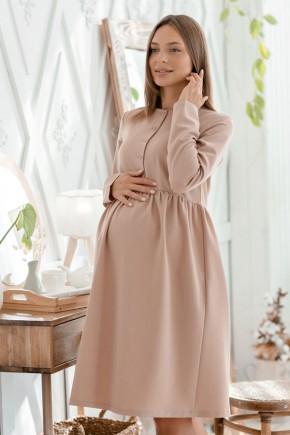 Платье для беременных и кормящих Lullababe Beirut бежевое
