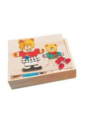Пазл гардероб медведицы и медвежонка Bino 88023