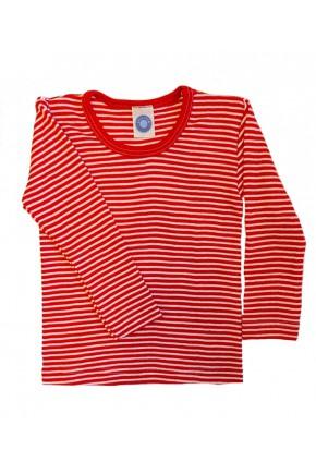 Кофта детская Cosilana из шерсти и шелка красная полоска