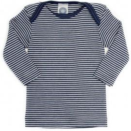 Кофточка длинный рукав, шерсть/шелк, синий цвет, Cosilana