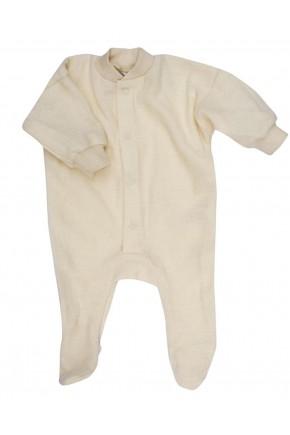 Детский iшерстяной  термо комбинезон Cosilana из шерсти мериноса 45095 бежевый