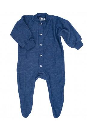 Дитячий вовняний термо комбінезон Cosilana з вовни мериноса синій 45095
