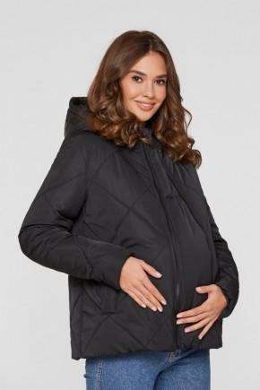 Слингокуртка 3в1 демисезонная для беременных Lullababe Zurich черная