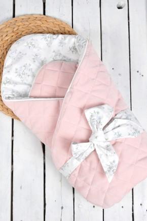 """Велюровый конверт-одеяло """"Tessera"""" MagBaby розовый"""