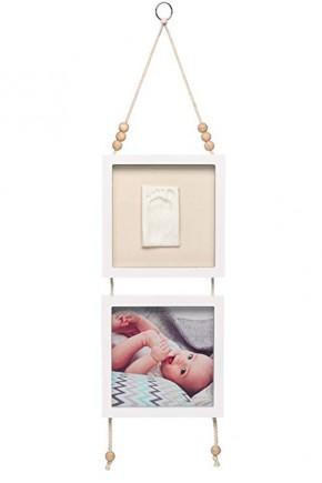 Рамка подвесная Baby Art двойная с отпечатком