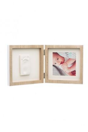 Рамка деревянная Baby Art двойная с отпечатком