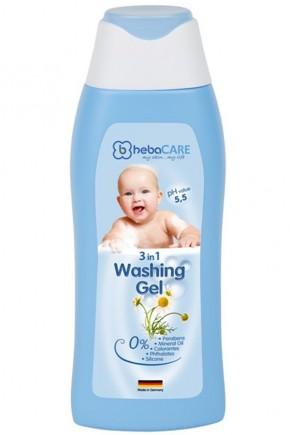 Детский гель HebaCARE для волос и тела 3в1 250 мл