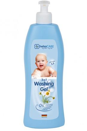 Детский гель HebaCARE для волос и тела 3в1 500 мл