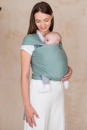 Трикотажный слинг-шарф Love & Carry - Базилик