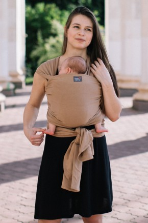 Трикотажный слинг-шарф Love & Carry - Миндаль
