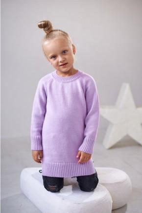 Трикотажная туника-платье Lutik лиловая