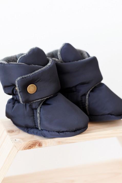Пинетки-сапожки Magbaby темно-синие