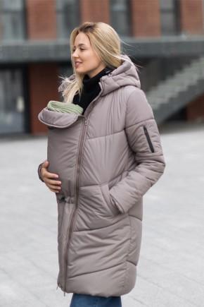 Зимняя слингокуртка 3в1 для беременных и слингоношения Love & Carry Мокко