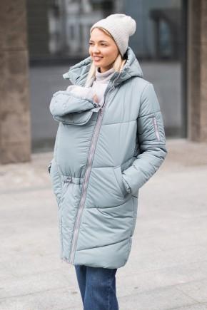 Зимняя слингокуртка 3в1 для беременных и слингоношения Love & Carry Лазурь