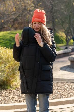 Зимняя слингокуртка 3 в 1 для беременных Lullababe Alaska черная