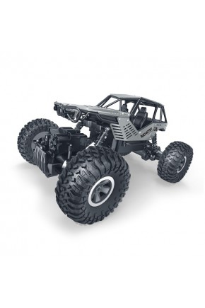 Автомобиль OFF-ROAD CRAWLER на р/у – ROCK (серебристый, метал. корпус, 1:18)