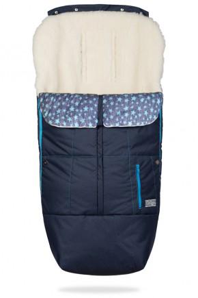 Конверт на овчине ДоРечі Trend синий с голубым декором