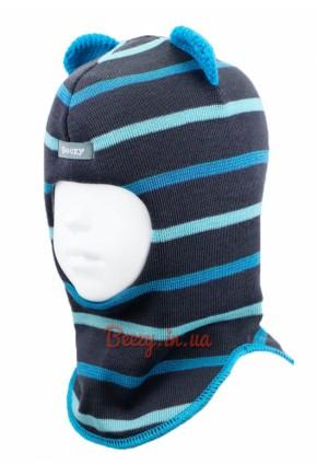 Шлем зимний для мальчика Beezy арт.1408, цвет синий