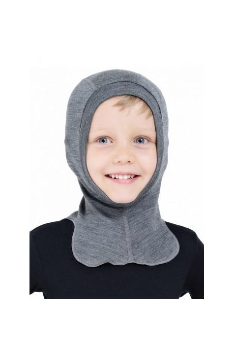 Термошапка-шлем из шерсти мериноса Norveg натуральная