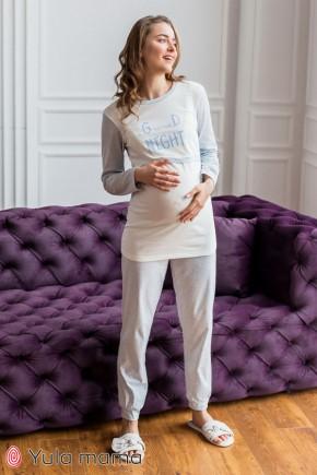 Теплая пижама для беременных и кормящих Юла Мама Milena NW-5.6.2