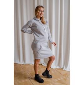 Платье для беременных To be 4284 серый меланж