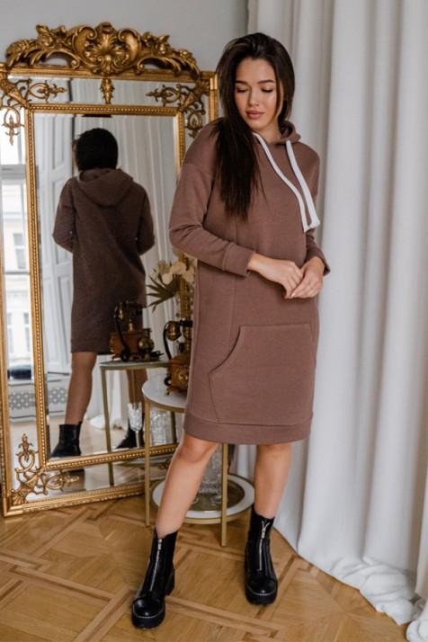 Платье для беременных To be 4284 коричневый