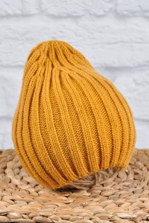 """Вязаная шапка Magbaby """"Alen"""" горчичная"""