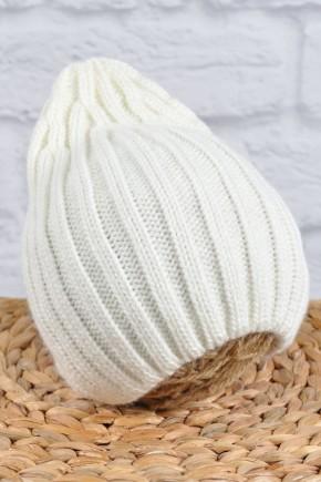 """Вязаная шапка Magbaby """"Alen"""" молочная"""