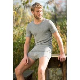 Мужская футболка Engel из шерсти и шелка серый меланж