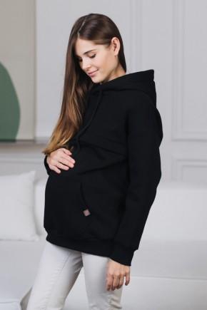 Худи для беременных и кормящих Love&Carry Черное