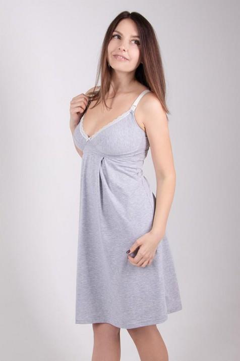 Ночная рубашка для беременных и кормящих Меланж