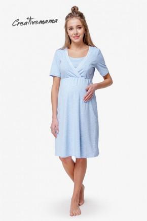 Нічна сорочка для вагітних і годуючих Creative Mama Bodycon Latte