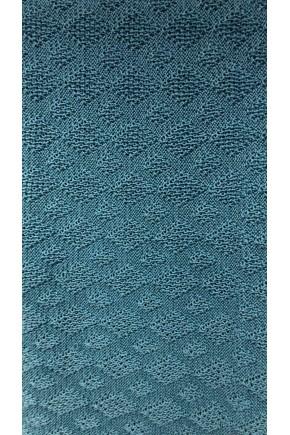 Плед D2816  100*80, вязаный, шерстяной, голубой