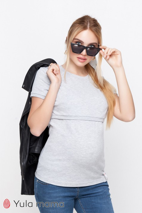 Футболка для беременных и кормящих Юла Mama Margo NR-10.014