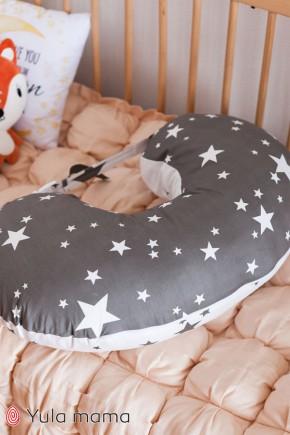 Подушка для кормления Юла Mama звезды на сером NUR-1.2.2