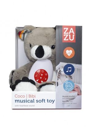 Музыкальная мягкая игрушка Zazu Сoco с белым шумом