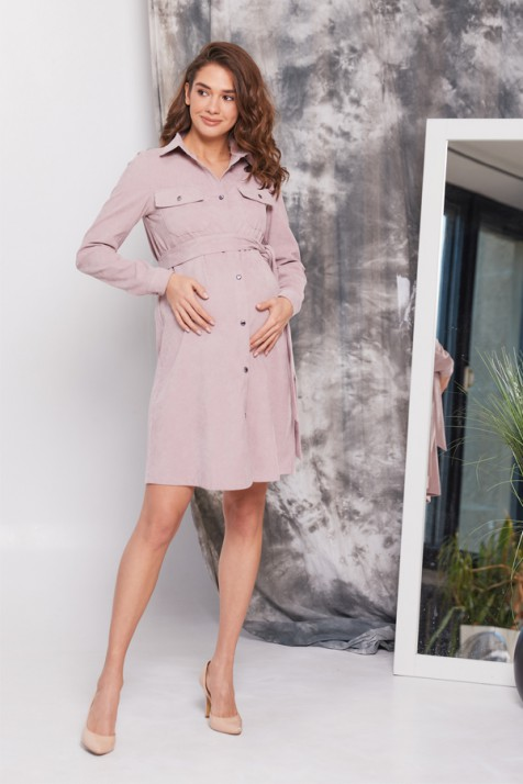 Платье для беременных и кормящих Lullababe Philadelphia пудровое