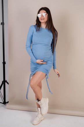 Платье для беременных To be 4288 голубое