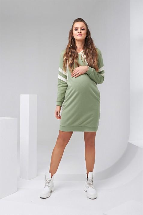 Платье-худи для беременных и кормящих Dianora 2143 фисташковое