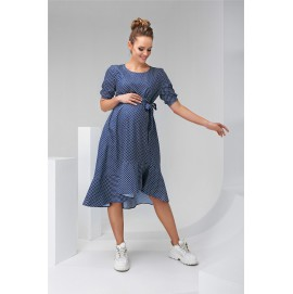 Платье для беременных и кормящих Dianora 2133 синее