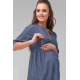 Платье для беременных и кормящих Dianora 2120 синее