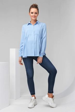 Рубашка для беременных и кормящих Dianora 2138 синяя