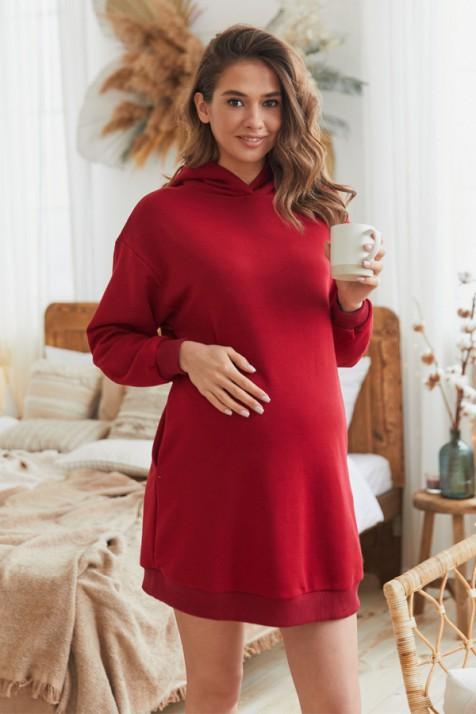 Платье для беременных и кормящих Lullababe Seattle бордо