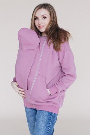 Худи для беременных со вставкой для ребенка Love&Carry Роза