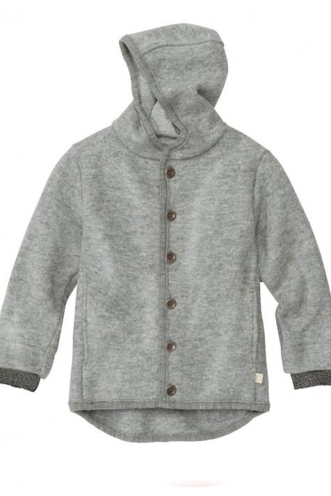 Курточка из свалянной мериносовой шерсти Disana с капюшоном