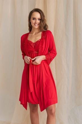 Халат для беременных и кормящих Dianora 2115 красный