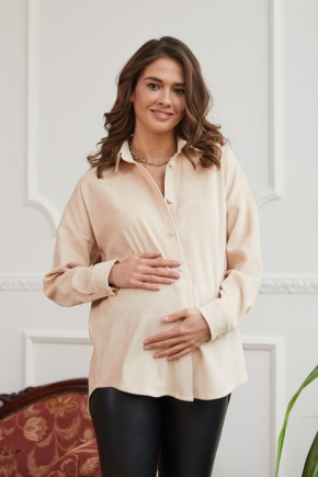 Сорочка для вагітних і годуючих Lullababe Cannes біла